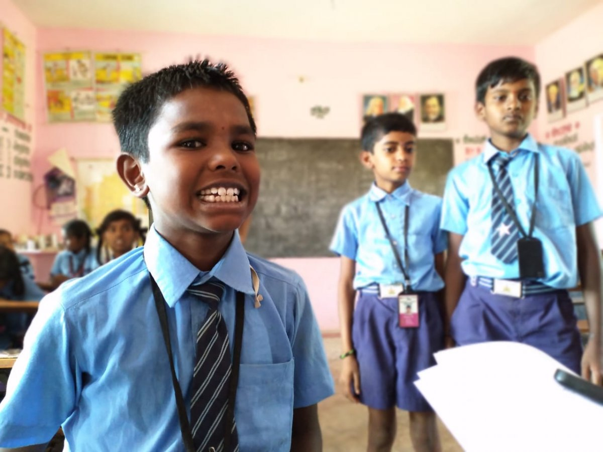 A young boy shows signs of dental fluorosis. Image credit: KarthiK Seshan