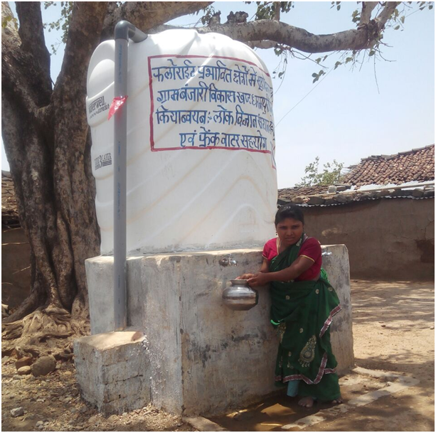A water tank installed just outside a house (Source:Dalpat & Heena)