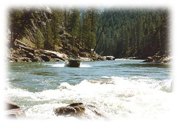 Salmon River, one of the longest Wild and Scenic Rivers in Idaho, running 425 miles