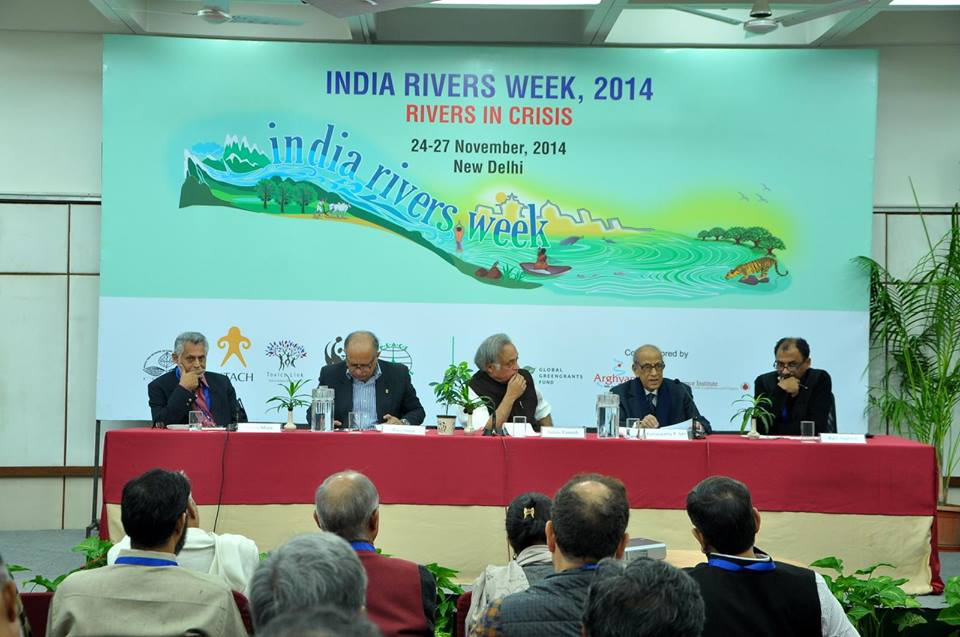 Former Union Minister Jairam Ramesh speaking at the India Rivers Week-2014