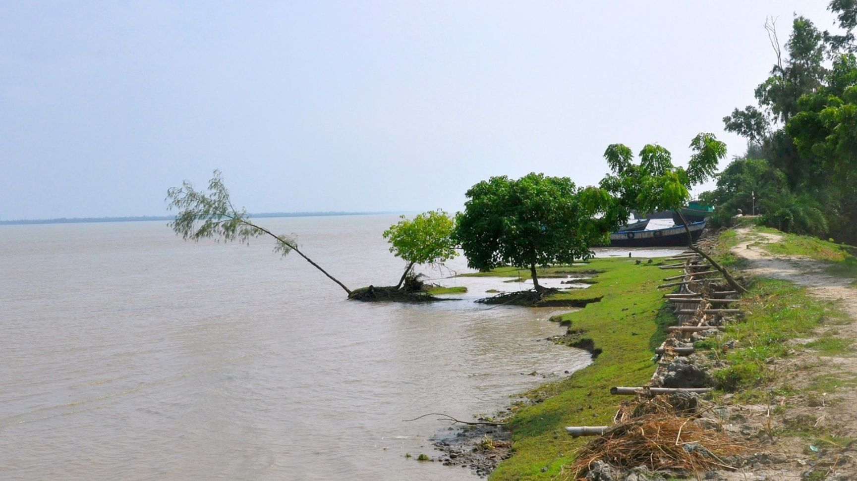 The landscape of Ghoramara island in the Sundarbans (Image: Anup Bhattacharya)