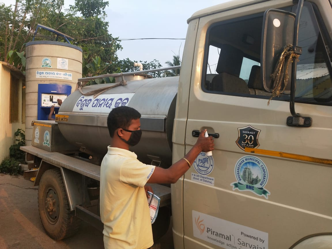 Safe water in the time of covid epidemic (Image Source: Piramal Sarvajal Foundation)
