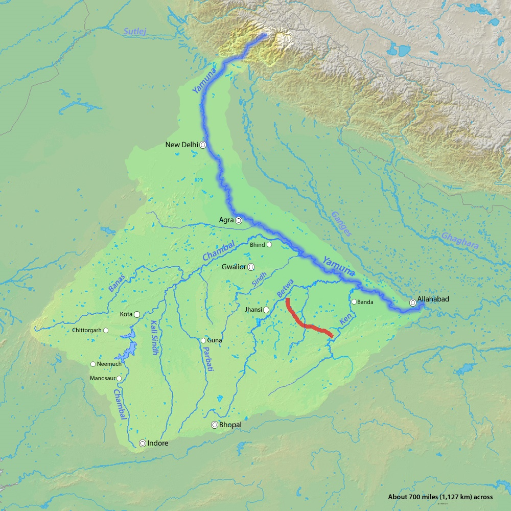 The Ken-Betwa river link (Source: Shannon)
