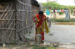 The water requirement for the scheme is being fulfilled through borings, submersible pumps, and distribution pipelines implemented by the Department of Panchayati Raj, Government of Bihar. (Image: Sehgal Foundation)