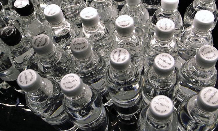 Bottled water (Source: Wikimedia Commons)