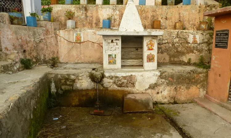 A spring next to a temple in Uttarakhand is the source of the Ramganga river
