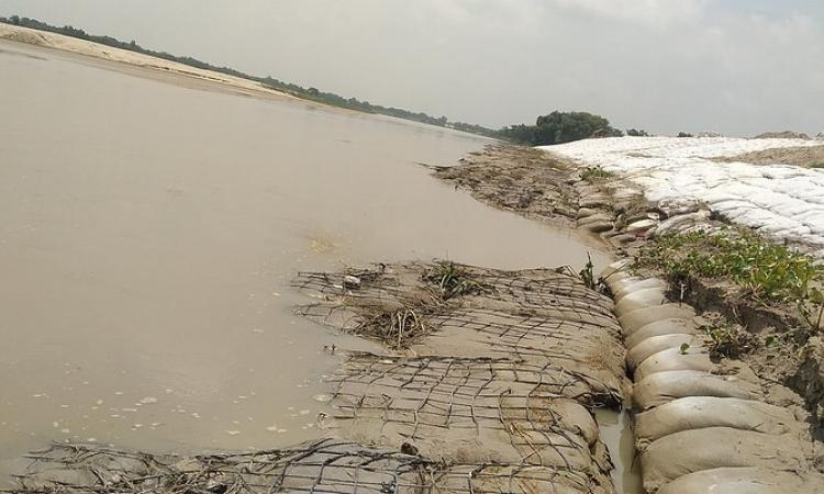 An embankment in Madhubani after a week of repairing (Source: Santosh Yadav via IWP Flickr albums)
