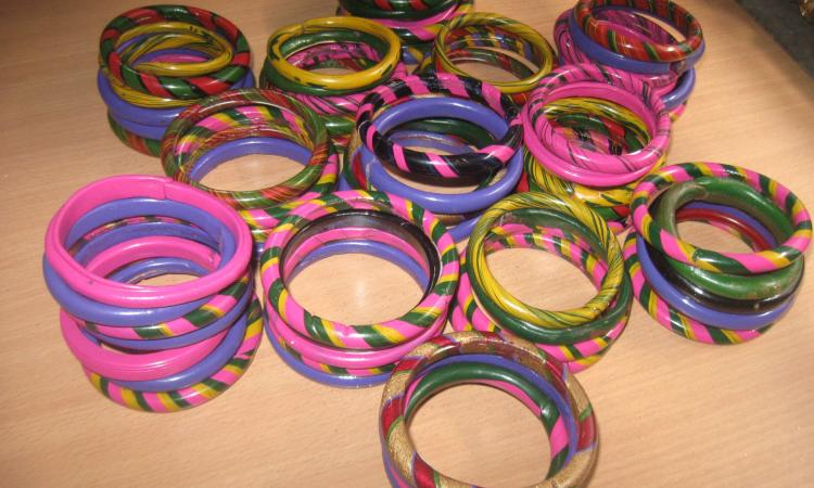 TRCSC promoting lac based products like bangles through training of over 200 women members of SHGs