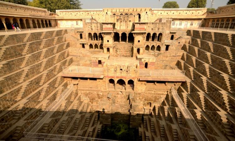 The design of Chand baodi (stepwell) in Abhaneri village, Rajasthan, was intended to conserve as much water as possible (Image: Unseen Horizons, Flickr Commons, CC BY-SA 2.0)