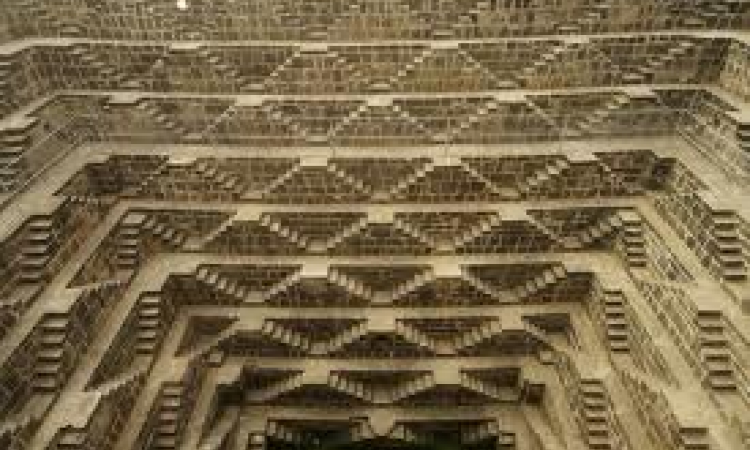 Chand bawdi, an ancient stepwell in Rajasthan