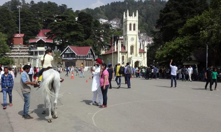 The Ridge houses Shimla's first underground water tank