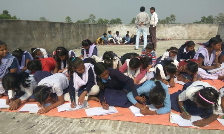 School children during the workshop.