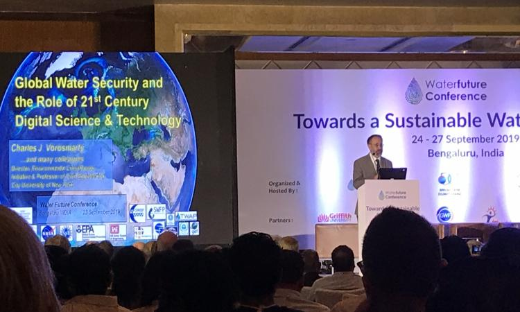 Charles Vorosmarty, Chair, COMPASS Initiative, Water Future at the opening plenary on advanced water system assessments to address water security challenges of the 21st century.