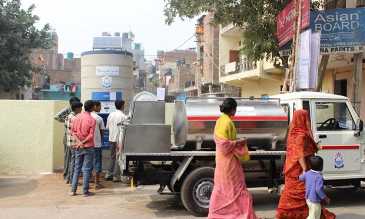 Safe drinking water, in difficult times (Image Source: PIramal Sarvajal)